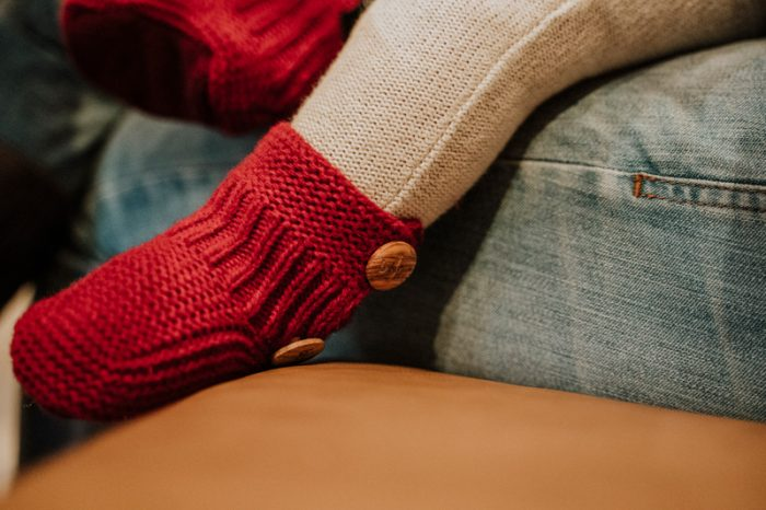 patuco de lana rojo