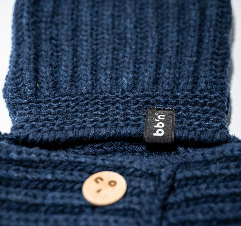 gorro de lana azul babyboton