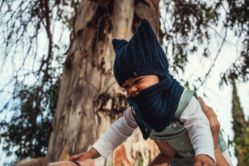 Gorro de lana el buho azul babyboton