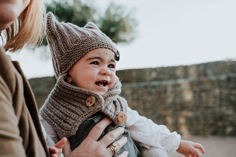 gorro de lana el buho beige babyboton